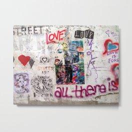 Tel Aviv Street Art / Love is the answer Metal Print