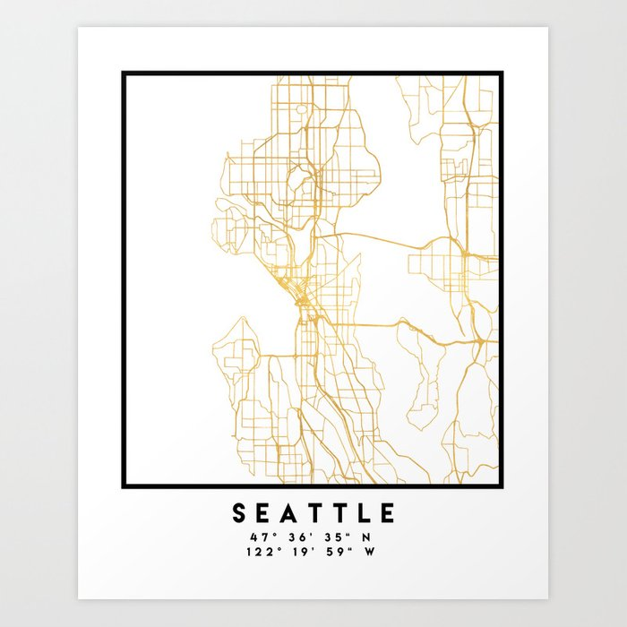 SEATTLE WASHINGTON CITY STREET MAP ART Art Print by deificusart on map crafts, map google search, map japan, map of the dolls island, map nautical charts, map skill builder, art design, map painting, map dress, map united states history, map of documents, map mural, map of united states area code, map design, map china, map furniture, photography art, map south florida fair, architectural art, map australia, map of the mind, commercial art, map india, map wall paper,