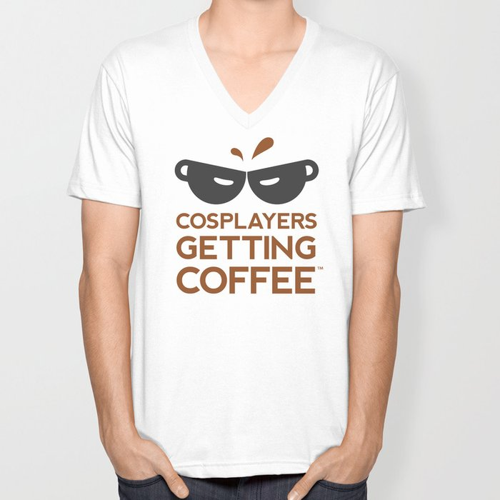 Cosplayers Getting Coffee Unisex V-Neck