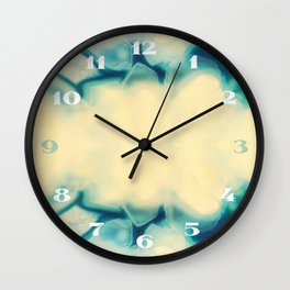 Sapphire Blue Agate Geode Crystal Gem stone Marble Pattern Wall Clock