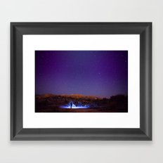 Exploring the night Framed Art Print