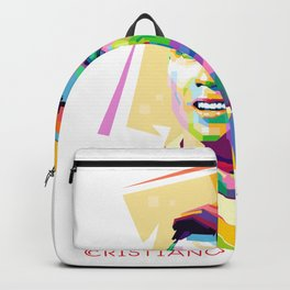 Cristiano Ronaldo In Pop Art Backpack