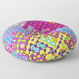 Abstract Psychedelic Pop Art Truchet Tile Pattern Floor Pillow