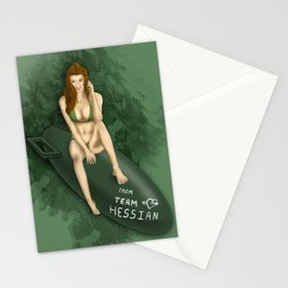 Team Hessian Pin-Up Stationery Cards