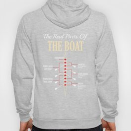 The Real Parts Of The Boat - Funny Boating Gifts Hoody