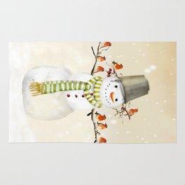 Snowman and Birds Rug