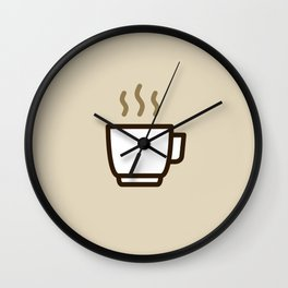 Coffee - Icon Prints: Drinks Series Wall Clock