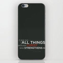 Philippians 4:13 iPhone Skin