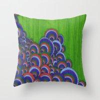 dr seuss Throw Pillows featuring Dr. Seuss 6 by Sarah J Bierman