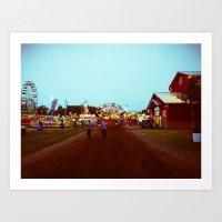 County Fair. Art Print