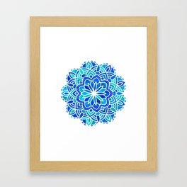 Mandala Iridescent Blue Green Framed Art Print