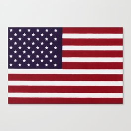 "Stars & Stripes flag, painterly ""old glory"" Canvas Print"