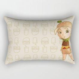 Mini Burger Rectangular Pillow