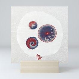 Wagasa (和傘 / Oil-paper umbrella) Mini Art Print