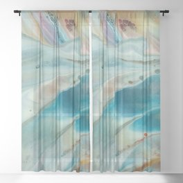 Pearl abstraction Sheer Curtain