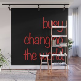 Busy... quotables Red on Black #typography Wall Mural