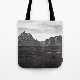 Dark Mountains Tote Bag