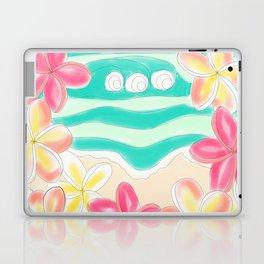 Plumeria ocean view Laptop & iPad Skin