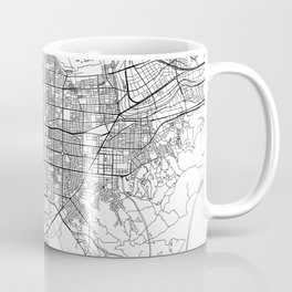 Taipei White Map Coffee Mug