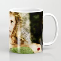 game of thrones Mugs featuring Portrait of Natalie Dormer (tutors / game of thrones) by André Joseph Martin