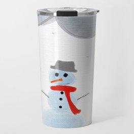 Season's First Snowman Travel Mug