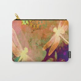 Dragonflies and Orchids QW Carry-All Pouch
