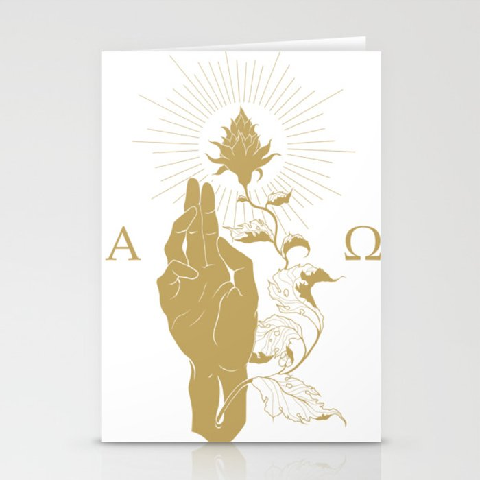 Alpha and Omega Stationery Cards