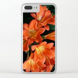 Jungle Floral Clear iPhone Case