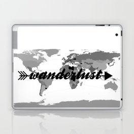 Wanderlust Black and White Map Laptop & iPad Skin