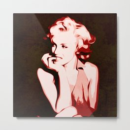 Marilyn - Classic - Monroe - Pop Art Metal Print