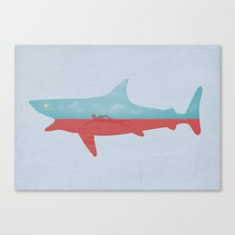 Bad day for a swim Canvas Print