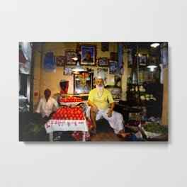 Mumbai Crowds - Dadar Station and Market - 31 Metal Print