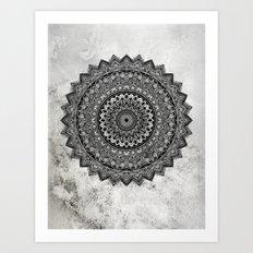 Charcoal Mandala Art Print