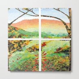 Window Pane Metal Print