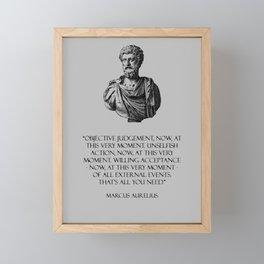 Marcus Aurelius - Stoicism Framed Mini Art Print