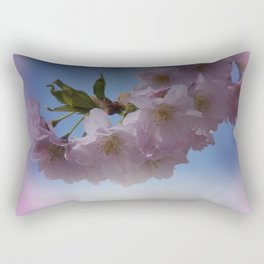 pink signs of spring on texture Rectangular Pillow