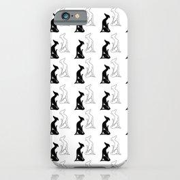 Greyhound sitting pattern iPhone Case