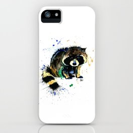 Raccoon - Splat iPhone Case