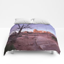 Arches National Park, Turret Arch, Sunrise Comforters