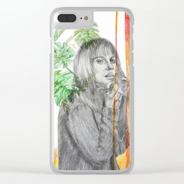 Summer time for Brits Clear iPhone Case