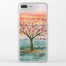 Apple Tree in Autumn Clear iPhone Case