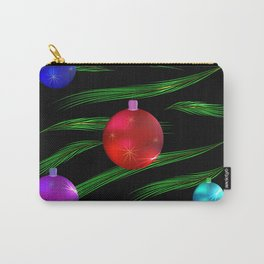 Christmas balls and decorations on pine branches. Carry-All Pouch