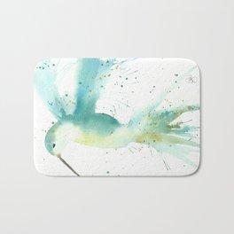 Blue Hummingbird Bath Mat