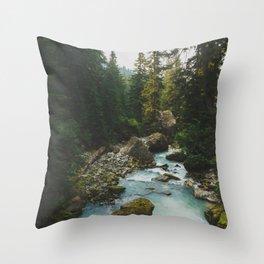 White Chuck River - Pacific Crest Trail, Washington Throw Pillow