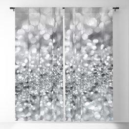 Silver Gray Lady Glitter #1 #shiny #decor #art #society6 Blackout Curtain