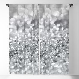 Silver Gray Lady Glitter #1 #shiny #decor #art #society6 Blackout Curtain