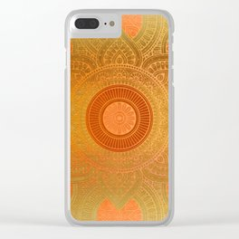 """Sabana Dawn Light Mandala"" Clear iPhone Case"