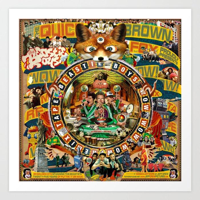 Beastie Boys Wow! Wow! Wow! Remix Tape Cover Art Print