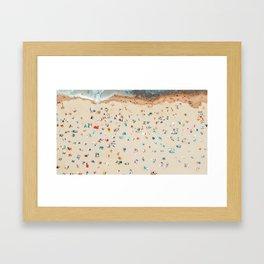 Aerial view of the beach Framed Art Print