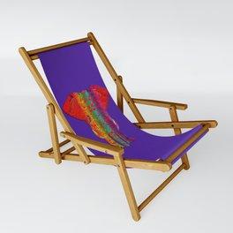 Rainbow Ganesha (Purple Background) Sling Chair